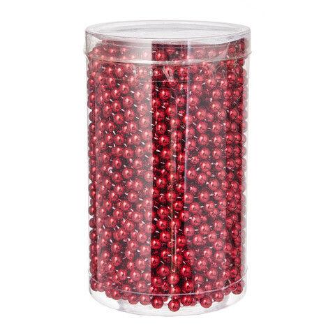Red Darice Beaded Garland Plastic 80 feet w