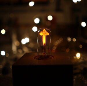 SELTENE-Gothic-Glimm-Lampe-Kreuz-E27-230V-3W-29x95mm-Ohne-Jesus-Gothic