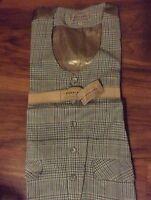 Bogari Studio Mens M Button-down Dress Vest Green Plaid Career Italy $69 M/l