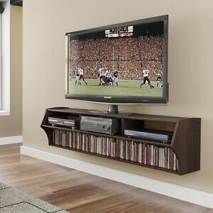 Wall Mount Tv Stand Wood Entertainment Center Stereo
