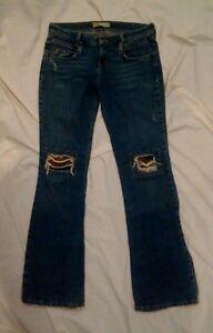 l-e-i-Womens-100-Cotton-Blue-Denim-Distressed-Destroyed-Jeans-Size-3