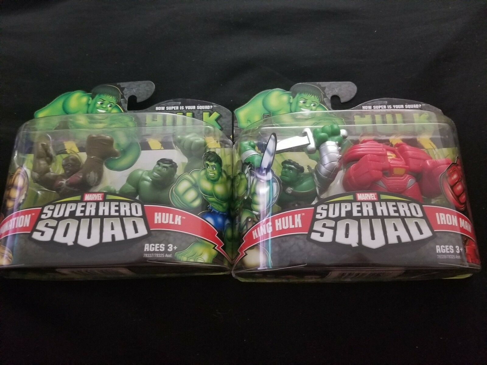 Marvel Super Hero Squad Hulk Wave 1: ABOMINATION & HULK, IRON MAN & KING HULK
