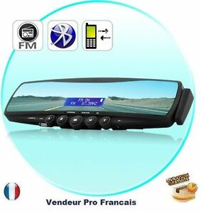 retroviseur bluetooth telephone voiture oreillette transmetteur fm carte sd mp3 ebay. Black Bedroom Furniture Sets. Home Design Ideas