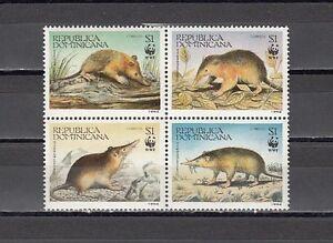 // Dominican Republic, Scott cat. 1158 A-D. World Wildlife Fund issue.