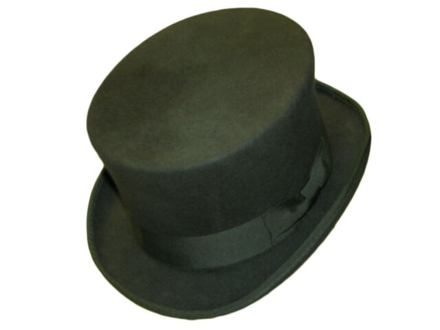 Quality 100% Wool Top Hat Hand Made Wedding Event Hat 14 Colours 5 Sizes S - XXL