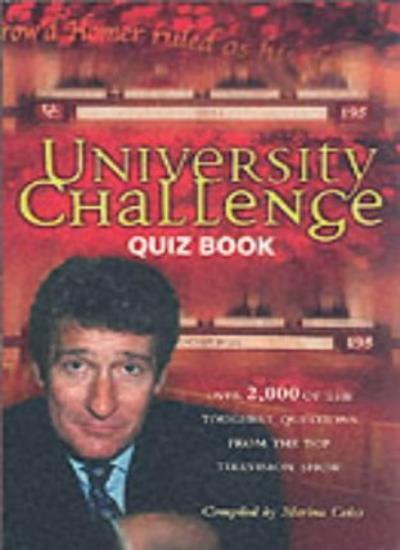 """University Challenge"" Quiz Book,Marina Coles"