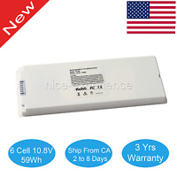 "Laptop Battery for Apple MacBook 13"" 13.3 Inch A1181 A1185 MA561 MA566 White USA"
