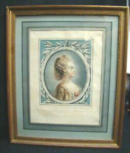 Louis-Marin-Bonnet-Retrato-de-Dama-Aguafuerte-Original-039-700-Marco-de-la-Dorada