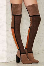 JEFFREY CAMPBELL Finestra Over the Knee Boots size 9.5 new in box OTK