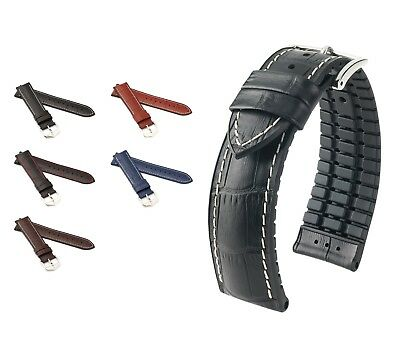 """New! 20-24 Mm Nice Hirsch Performance Watch Band """"george"""" 4 Colors"""
