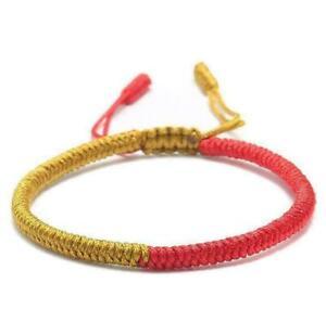 Lucky-Red-String-Bracelet-Tibetan-Buddhist-Handmade-Knot-Multi-Color-Rope-Knots