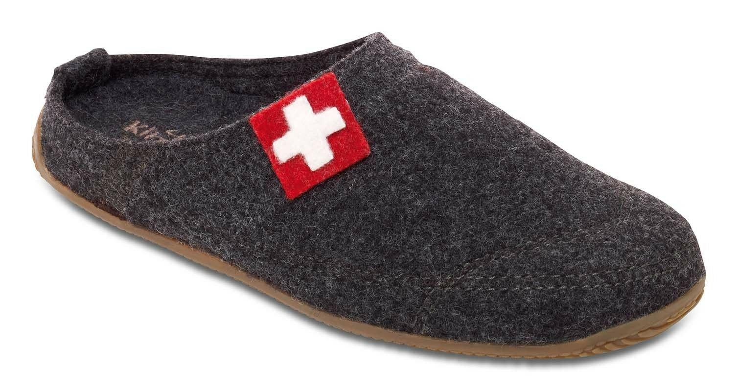 Living Kitzbühel 2486 600 Schweizer Kreuz Pantoffeln mit Fußbett Gr. 36 - 47 Neu