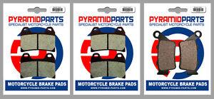 Front & Rear Brake Pads (3 Pairs) for Husqvarna 900 Nuda 2012