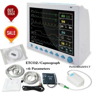 Details about Portable Capnograph Patient Monitor 6-parameter ETCO2 Vital  Sign Cardiac Machine