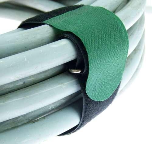 20 x Kabelbinder Kabelklett 50 cm x 50 mm dunkel grün Klettband Klettkabelbinder