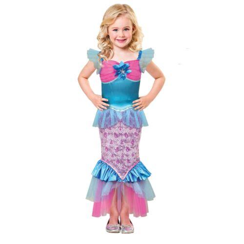 Le Ragazze Sirenetta Costume Sparkle del Mare Bambini Libro Giorno Costume Bambino
