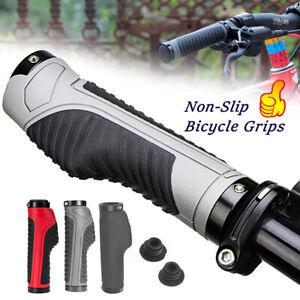 Bike Grips Rubber Mountain Bicycle MTB Handlebar Ergonomic Cycling Lock On TPR
