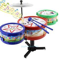 Rack Drum Jazz Drums Rock Set Kids Children Musical Instrument Toy Xmas Gift New