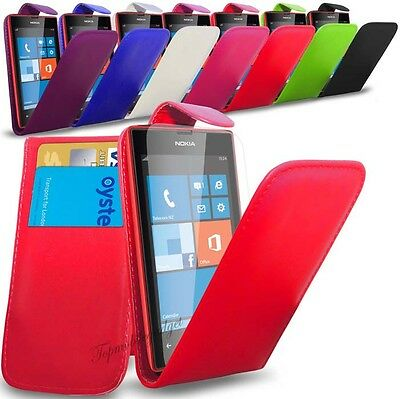 Nokia Lumia 535 - PU Leather Flip Case Cover  &  Free Screen Protector