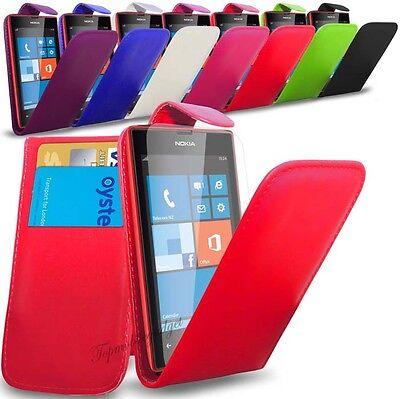 Nokia Lumia 535 - PU Leather Flip Case Cover  &  Free Screen Protector