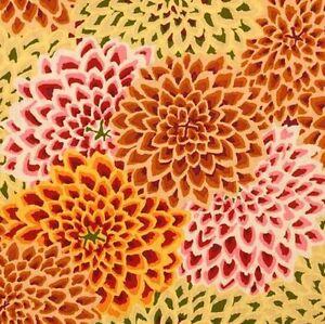 Rowan-Kaffe-Fassett-Dahlia-Blooms-Cotton-Fabric-GP54-Vintage-Limited-Edition-BTY