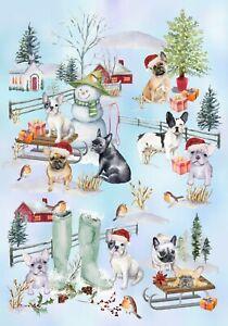 French-Bulldog-Christmas-Gift-Wrapping-Paper-by-Starprint-1-sheet-Semi-gloss