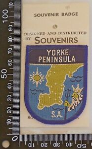 VINTAGE-YORKE-PENINSULA-SA-EMBROIDERED-SOUVENIR-PATCH-WOVEN-CLOTH-SEW-ON-BADGE