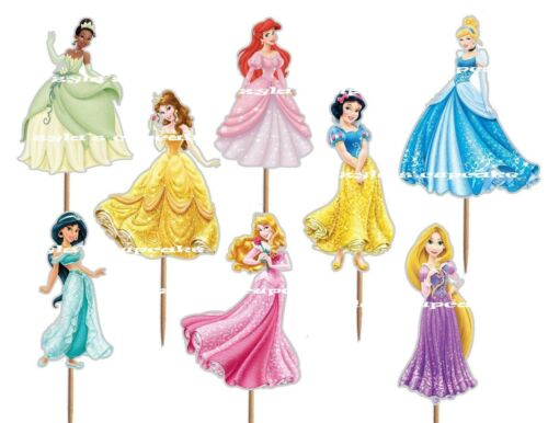 16pcs Disney Princesses  Cupcake Topper