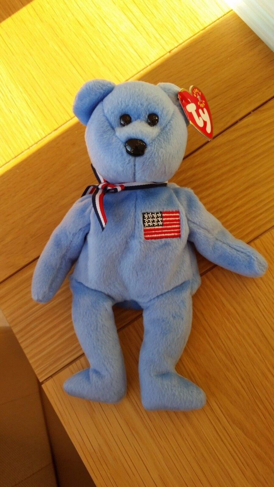 RARE TY Beanie Baby AMERICA 2001 Bear with tag  IMMACULATE