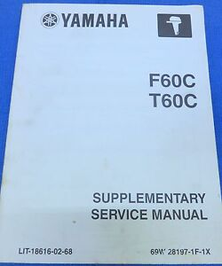2003 yamaha service repair manual oem marine f60c t60c lit 18616 02 rh ebay com Yamaha Service Manual for Model CR-820 yamaha f60c service manual