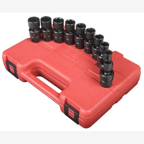 Sunex 3657 3/8 Dr. 10 Pc. Metric Universal Impact Socket Set
