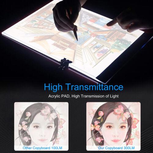 A3 A4 LED Ultra Slim Art Craft Drawing Copy Tracing Tattoo Light Box Pad Board