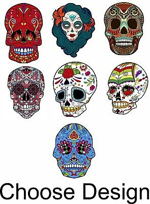 D\u00eda de Muertos Color Vinyl Sticker Decal Day of the Dead sugar skull 002