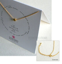 """Dogeared Gold Dipped Circle Necklace 14K Gold Filled 16"""" Chain 2"""" Extender BOXED"""