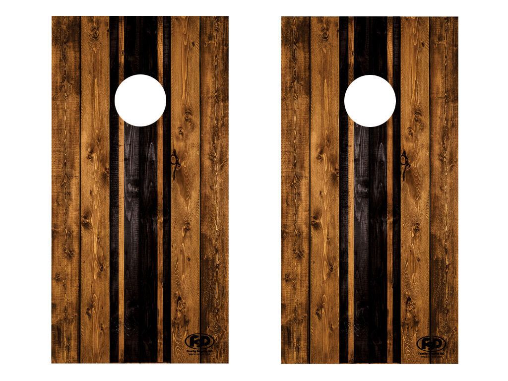 FGD  Cornhole Wrap Two Tone Rustic Wood Design LAMINATED Vinyl Decal  incentive promotionals