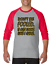 Gildan-Raglan-T-shirt-3-4-sleeve-Don-039-t-Be-Fooled-Just-Look-Like-I-Care-S-M-L-XL thumbnail 3