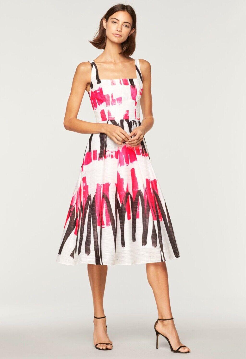 NWT Milly Modern Scribble Print Camilla Dress Storlek 6 ORIGINAL  675 Herregud