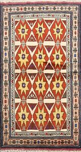 Geometric Traditional Ardebil Hand-knotted Area Rug Wool Oriental Carpet 3x5 ft
