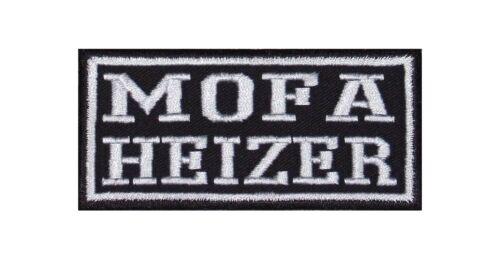 Mofa Heizer Patch Aufnäher Biker Kutte 2 Takt 25 50 Kubik Kreidler Simson Puch