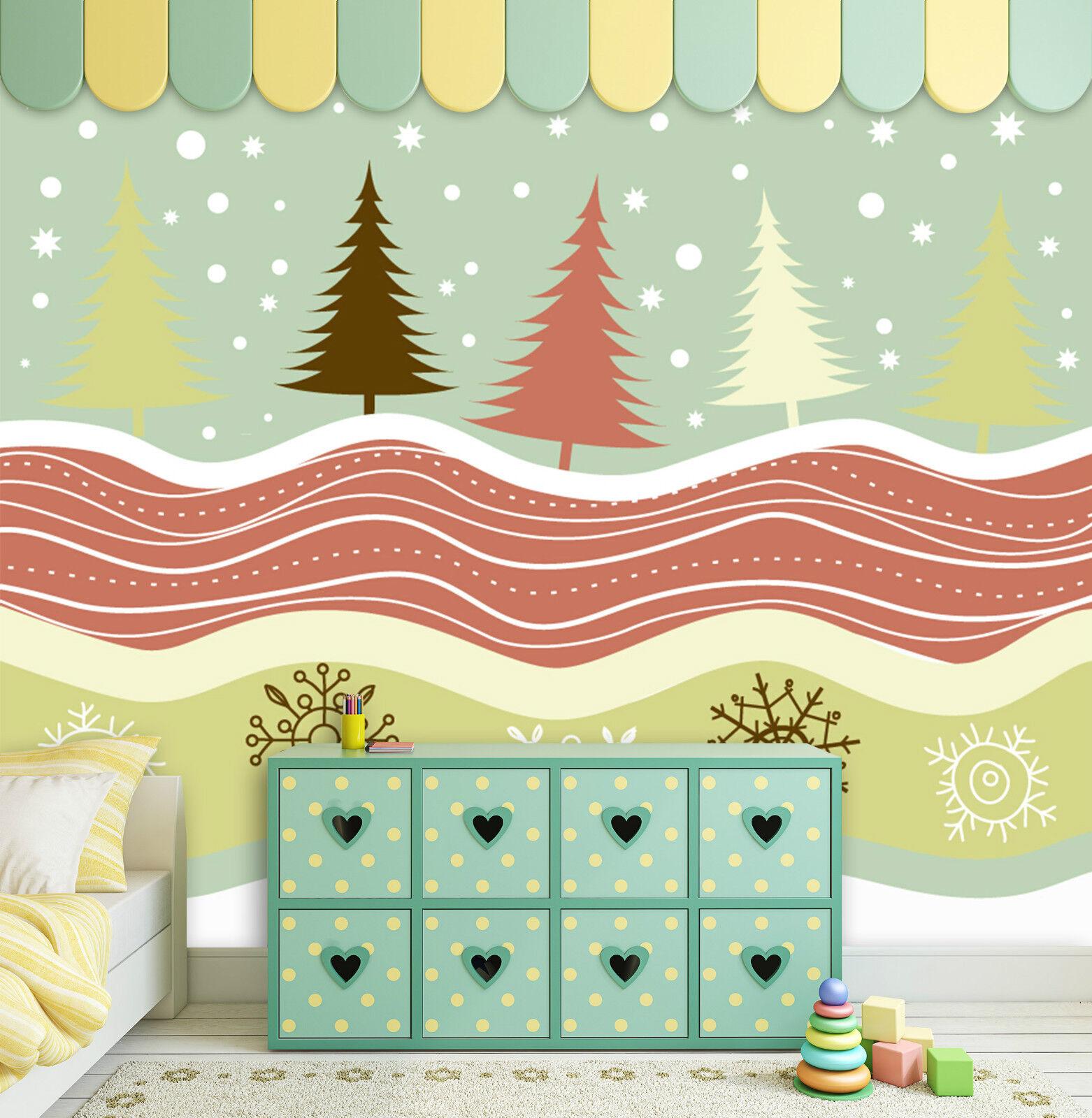 3D Christmas Farbeful ripples WallPaper Murals Print Decal Wall AJ WALLPAPER