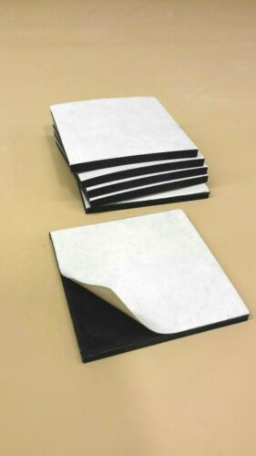 "1//8/""Thk x 3.50/"" W x 5/"" L 2 Pcs Neoprene Rubber Solid Sheet w//PS Adhesive"