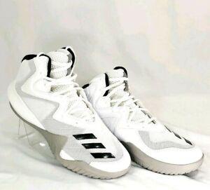 034ca8290a2 Adidas Mens 8 Basketball Shoes Originals BY3927 White Black Stripes ...
