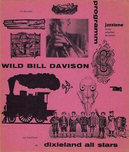 Wild Bill Davison 1956 ORIGINAL jazz program GÜNTHER KIESER HANS MICHEL RARE
