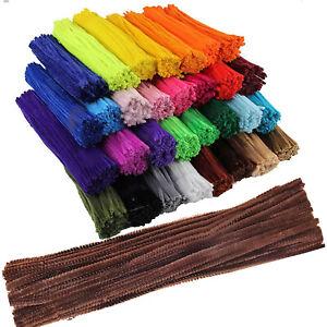 Chenille-Craft-STELI-PIPE-CLEANERS-30cm-12-034-un-sacco-di-colori-e-tipi-di-Confezione-UK