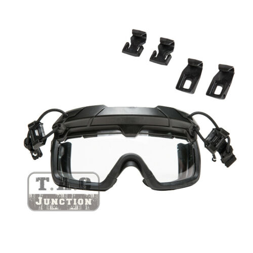 Tactical Anti-Fog Ballistic Goggle Clear Lens Safety Eyeglasses for FAST Helmet