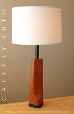 RARE! MID CENTURY DANISH MODERN TEAK LAMP! Eames Retro Table Vtg 50s Atomic Home