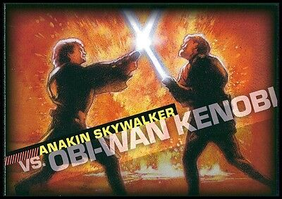 Science Fiction & Horror Stamps Self-Conscious Usa Star Wars Postkarte Postcard Us-post 2007 Anakin Skywalker Vs Obi Wan Bk42