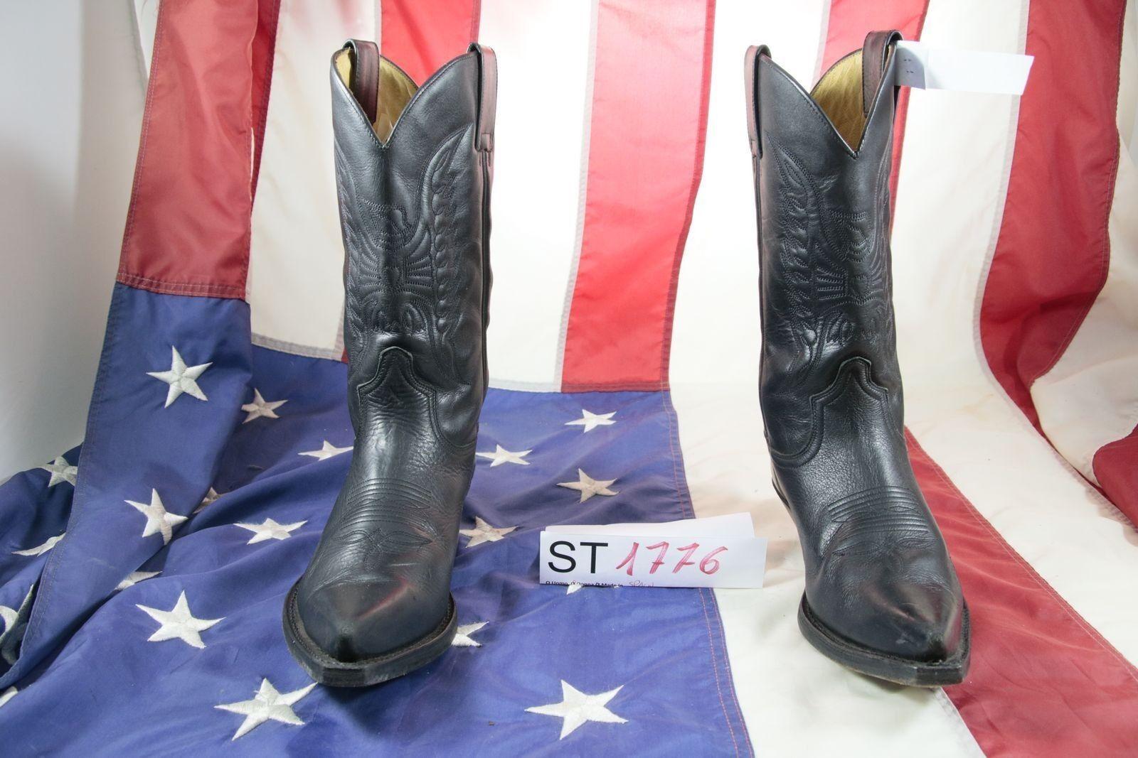 Stivali SENDRA (Cod. ST1776) USATO N.40 DONNA Pelle Neri Biker Country Texani