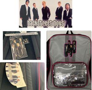 Vintage Backstreet Boys Backpack - Book Bag W/ Pencils-Eraser-Notepad/ New