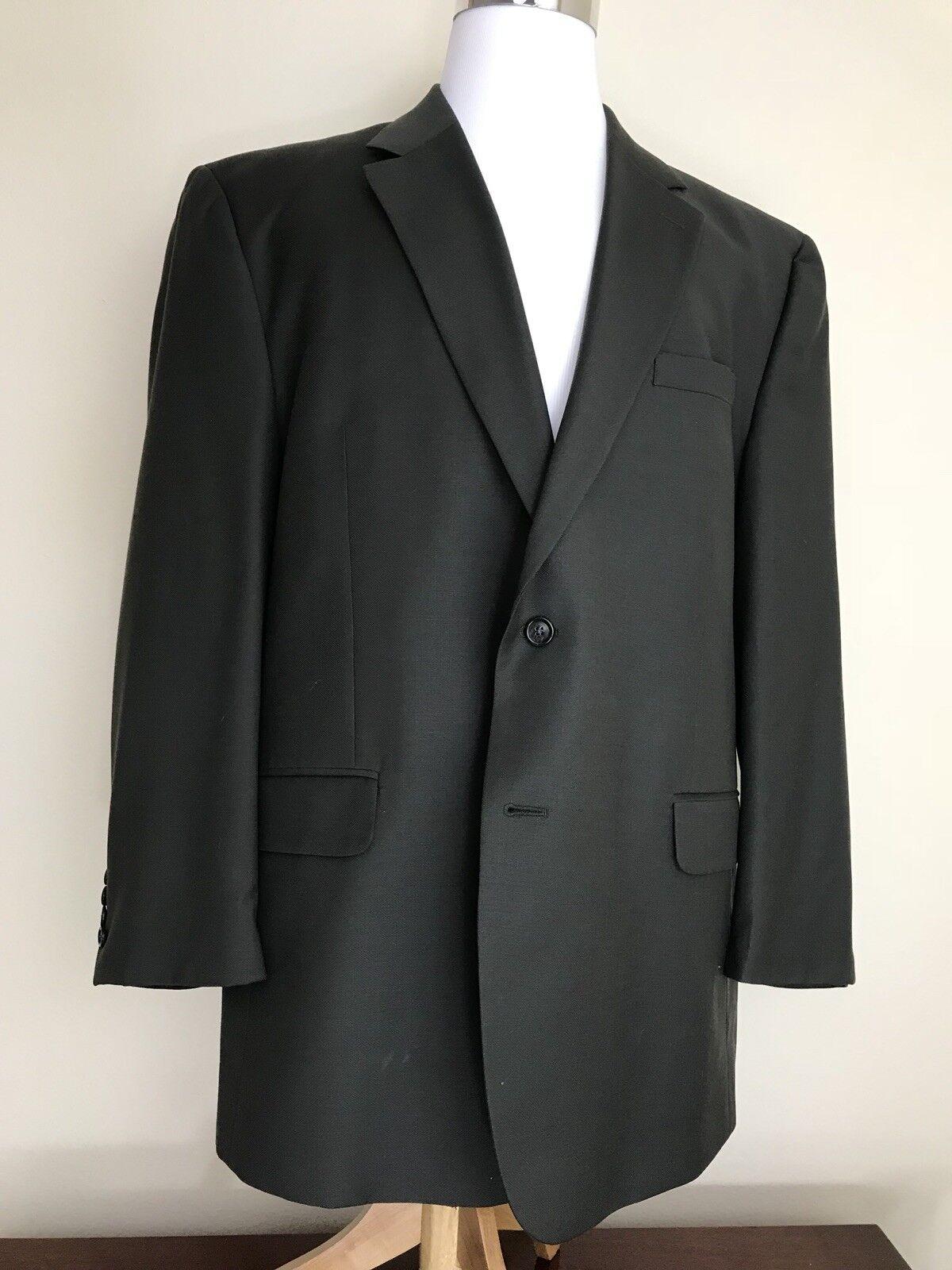 Jos A Bank Dark Olive Wool Sport Coat Blazer  Herren 48R 2 Button   L11 c